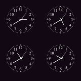 Set of Realistic classic round wall clock icon isolated on transparent background. Set of Realistic classic round wall clock icon isolated on background Royalty Free Stock Image