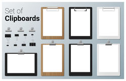 Set of realistic clipboards Royalty Free Stock Image