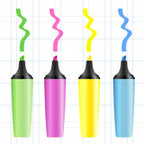 Set of realistic colored markers Royalty Free Stock Image