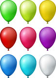 Set of realistic colorful balloons. Royalty Free Stock Image