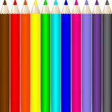 Set of Realistic Colorful Colored Pencils. Background of a row of colored pencils. Stock vector. Vector illustration EPS10 vector illustration