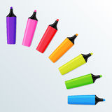 Set of Realistic Colorful  Markers. Stock Photos
