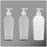 Set Of Realistic Cosmetic Bottles. Tube Or Container For Cream, Ointment, Lotion, Shampoo. Vector Mock Up Illustration Royalty Free Stock Photo