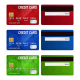 Set of realistic credit card two sides isolated on Stock Image