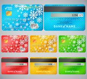 Set of realistic credit card two sides Stock Photography