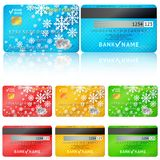 Set of realistic credit card two sides. Vector Royalty Free Stock Photos