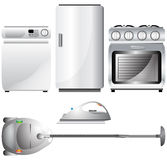 Set of realistic, detailed household appliances Royalty Free Stock Photo
