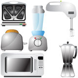 Set of realistic, detailed kitchen appliances Stock Photo