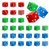 Set of realistic dice Royalty Free Stock Images
