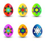 Set of realistic eggs on white background. Easter collection. Vector illustration.  vector illustration