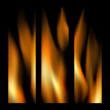 Set of realistic fire vertical banners Royalty Free Stock Images