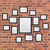 Set realistic frame on wall. Perfect for your presentations Royalty Free Stock Images