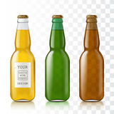 Set realistic glass bottles Royalty Free Stock Photo