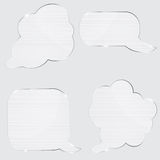 Set of realistic glass speech bubbles. Stock Photos