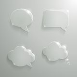 Set of Realistic Glass Speech Bubbles Royalty Free Stock Images