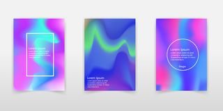 Set of realistic holographic Foil backgrounds in different color. S for design. Hologram to create trendy modern design. Backgrounds for design cards, filling royalty free illustration