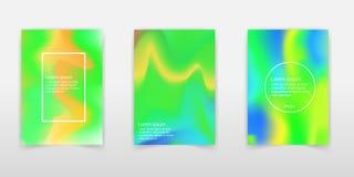 Set of realistic holographic Foil backgrounds in different color. S for design. Hologram to create trendy modern design. Backgrounds for design cards, filling vector illustration