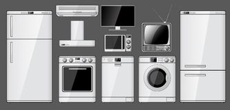 Set Of Realistic Household Appliances Royalty Free Stock Photography