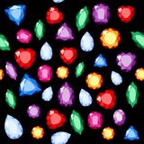 Set of realistic jewels. Colorful gemstones. Vector gemstone Illustration