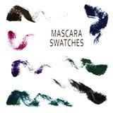 Set of 7 realistic mascara swatches. Stock Photos