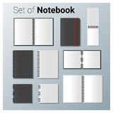 Set of realistic notebook Stock Images