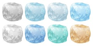 Set of ice cubes vector illustration
