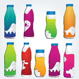Set of realistic plastic bottles Royalty Free Stock Photo