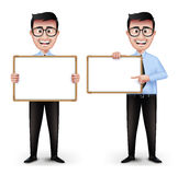 Set of Realistic Smart Professor or Business Man Royalty Free Stock Photos