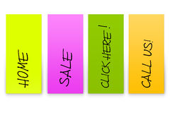 Set of realistic stickers Stock Images