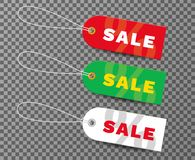 Set of realistic tags for sale. Tags for sale with text-sale. Re Royalty Free Stock Photo