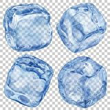 Transparent ice cubes Stock Photo