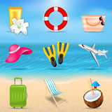 Set Realistic Travel and Tourism Accessories Royalty Free Stock Photo