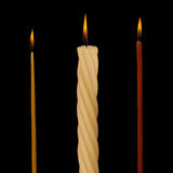 Set of Realistic Vector Candles Stock Photo