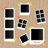 Set of realistic vector photo frames. Stock Photography