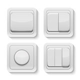 Set of realistic vector switches. Stock Images