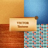 Set of realistic vector textures Royalty Free Stock Photography