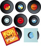 Vinyl records set Royalty Free Stock Image