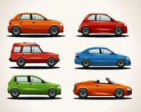 Set of realistic vehicles vector illustration