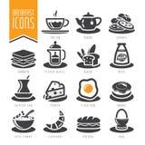 Set realistische Ikonen erstellt im Adobe-Illustrator Stockfotos