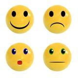 Set realistyczne piłki z emocjonalnymi twarzami na nim, wektoru set Obraz Royalty Free