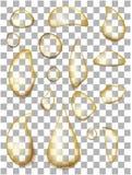 Set realistyczne przejrzyste olej krople royalty ilustracja