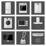 Set Realistyczni gospodarstw domowych urządzenia Fotografia Royalty Free
