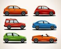 Set realistyczni pojazdy ilustracja wektor