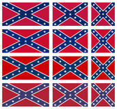 Set of Rebel Flags Royalty Free Stock Photo