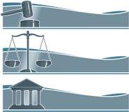 Set Rechtsanwalts-Fahnen Lizenzfreie Stockfotos