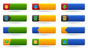 Set rectangle buttons Stock Photo