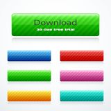 Set of rectangle buttons. Vector illustration eps 10 Vector Illustration