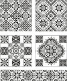 Set of rectangle and square form ornamental patterns Stock Image