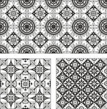 Set of rectangle and square form ornamental patterns Royalty Free Stock Photography