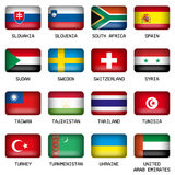 Set of Rectangle World Top States Flags Royalty Free Stock Photography